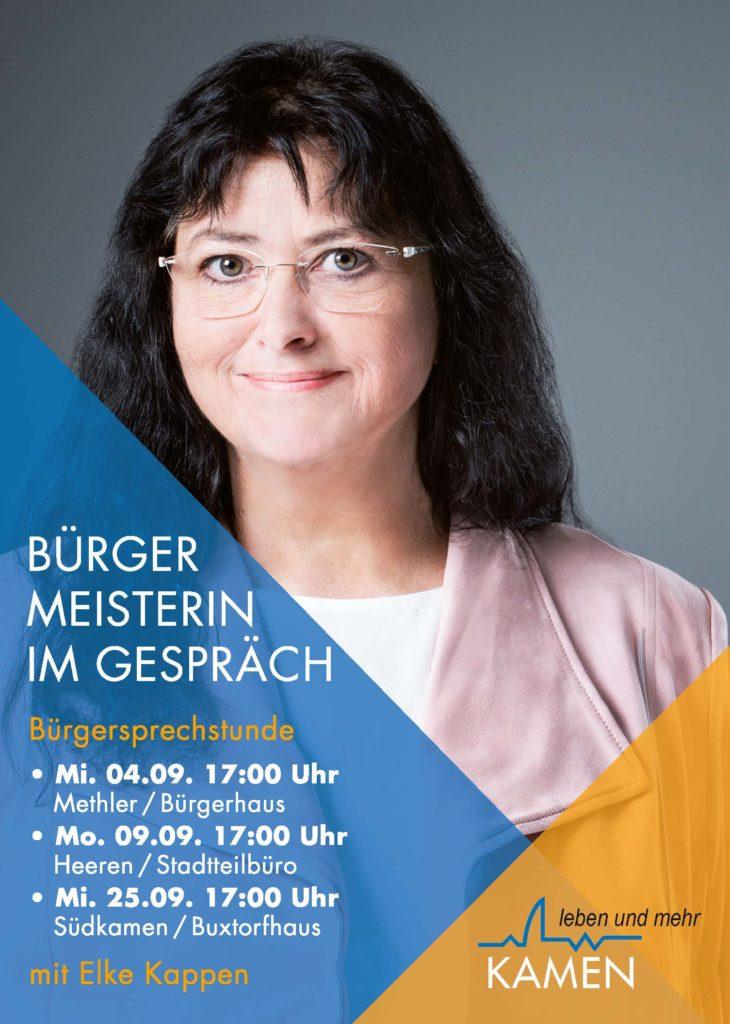 Bürgermeisterin im Gespräch - am 9. September im Stadtteilbüro Heeren-Werve