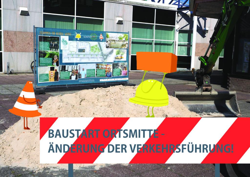 Einbahnstraßenregelung kündigt Baustart an
