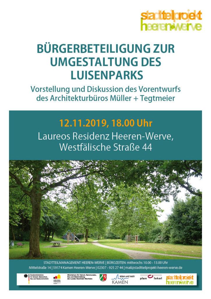 Bürgerbeteiligung zur Umgestaltung des Luisenparks