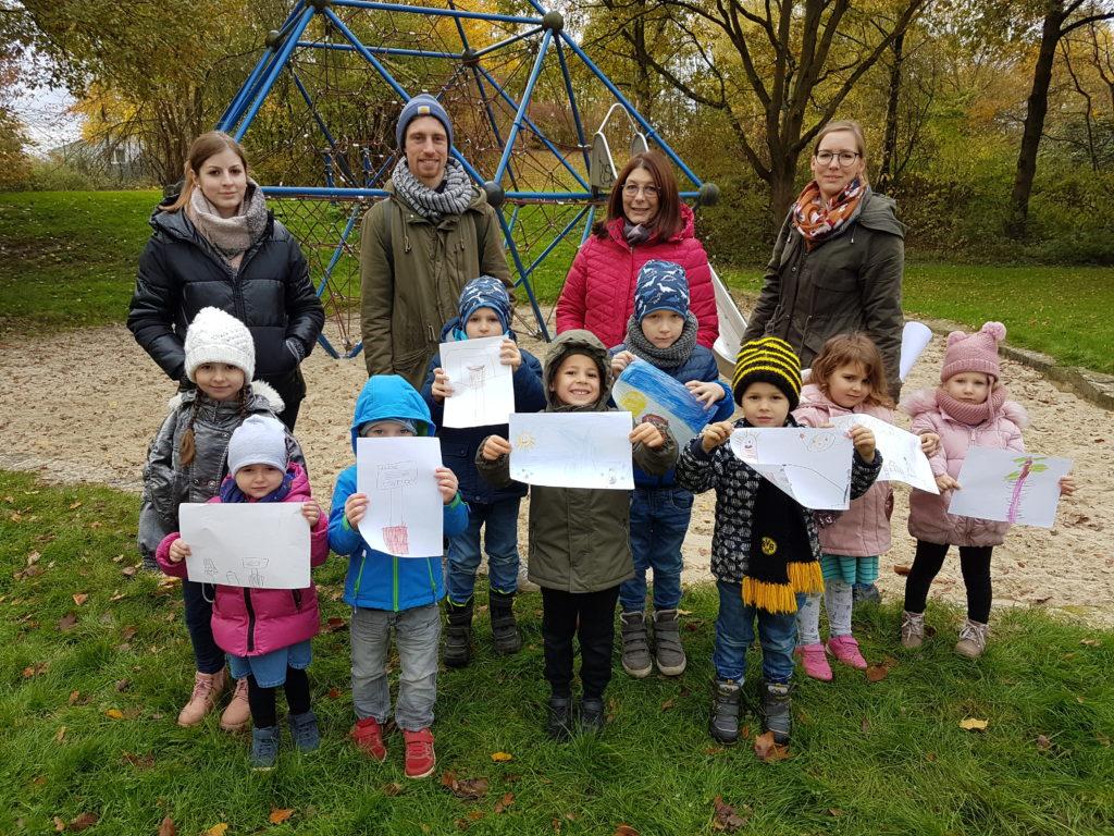 Kita-Kinder entwerfen Ideen für den Luisenpark