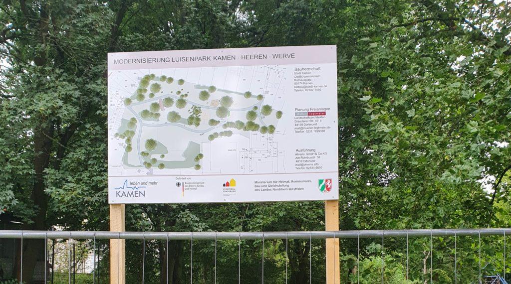 Baustellen: im Luisenpark geht's los - Ortsmitte auf der Zielgeraden